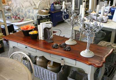 French country furniture shop table